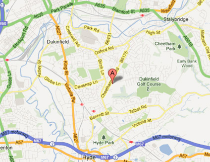 dukinfield-map